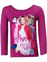 Violetta - Tee shirt manches longues Violetta fushia Taille de 4 à 12 ans - 4 ans,6 ans,8 ans,10 ans,12 ans,5 ans