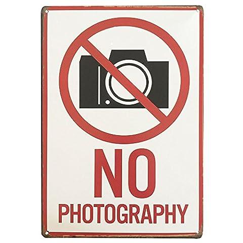 Ipekoo aucune Photographie plaque en métal Tin Sign Pub Poster en métal vieilli rétro murale plaque en métal