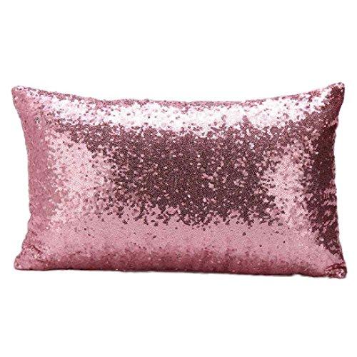 kissenhüllen kopfkissenbezüge Pailletten Schlafsofa Dekoration Festival Kissenbezug 30 x 50 LuckyGirls (pink)