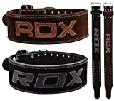 RDX Gimnasio Cinturón Cuero Musculacion Peso Entrenamiento Cinturones Pesas Levantamiento