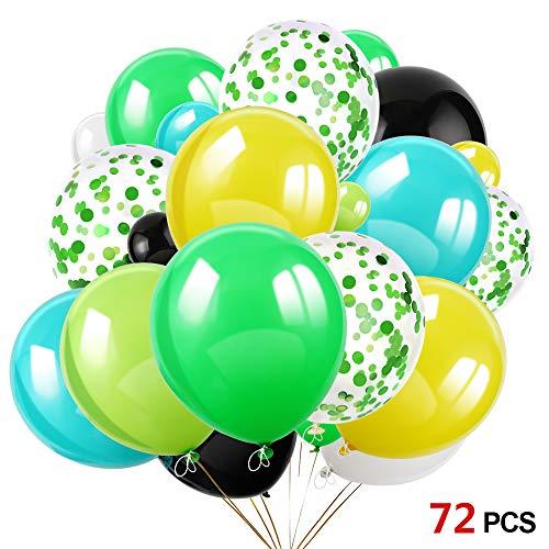 Howaf 72 Stück 12 Zoll Grün Konfetti Ballon Latex Ballons Luftballons Heliumballons für Hochzeit Geburtstag Party Dekorationen, Babyparty, Valentinstag, Graduierung, Brautgeschenke