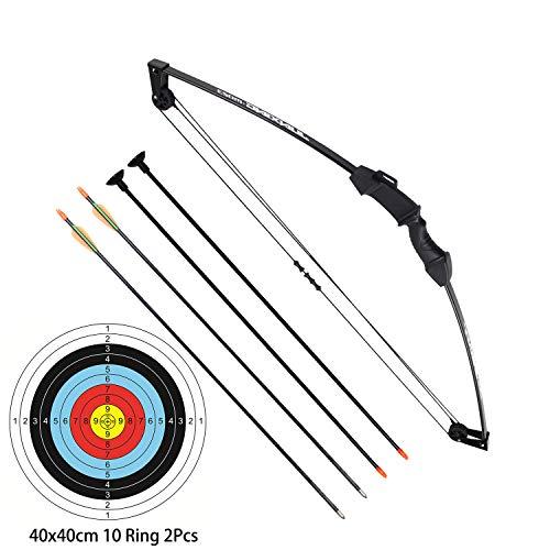 """Funtress 35"""" Junior Arco Compound Archery Set con 4 frecce per Giovani Bambini"""