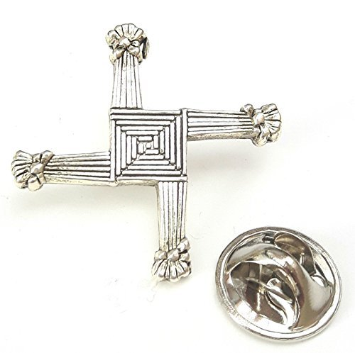 Saint Brigid Es Kreuz Silber Farbe Irland Metall Abzeichen Mit Dem Gebet Auf Karte