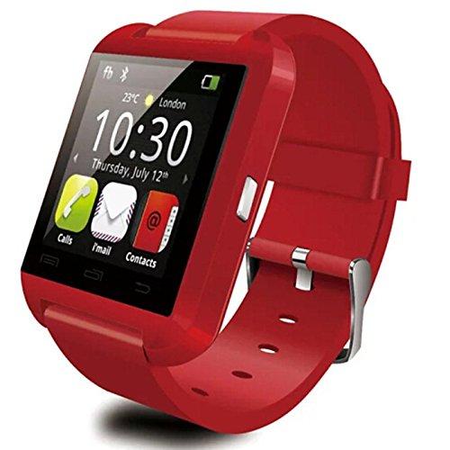 Galleria fotografica Lemumu Il Bluetooth Smart Watch orologio da polso WU8Watch per SamsungHTC LG Huawei Xiaomi per telefono Android smartphone,220V,rosso