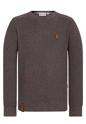 Naketano Male Knit Mortal Men Fancy Dark Grey Melange