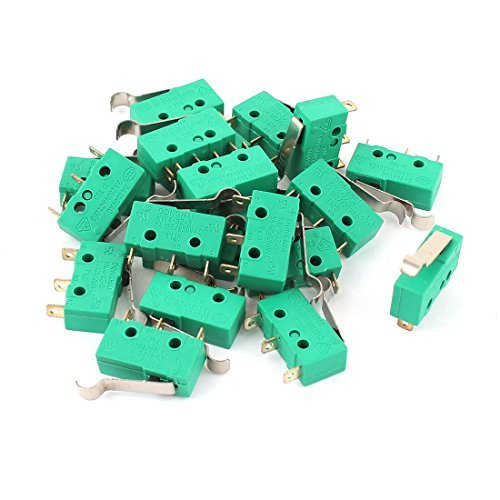 AC250V / 125V 5A Micro Limit Switch R Lever Self-reset Snap 20 PC