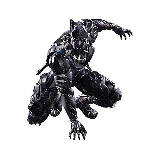 ISee Black Panther Actionfigur, Superhelden-Replikat-Modell, Black Panther-Statue, Filmcharakterskulptur, Souvenir, Sammlerstück, Geschenk für Fans,10.24inches