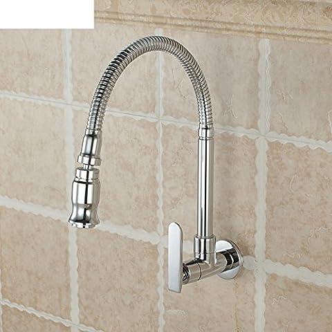La piscina fregona/Lavadero/Monomando de lavabo fregadero cocina fría sola/Grifo de pared de tubo