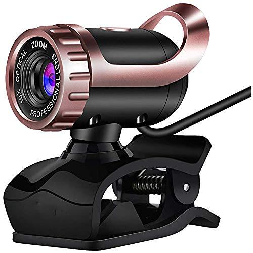 Zks Webcam, Plug & Play HD Webcam Beweglicher Qualität Web-Kamera Eingebauten HD-Mikrofon Für Videotelefonie, Conferencing, Aufnahme,B