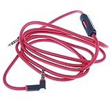 MagiDeal Audio Jack Adaptateur Audio Câble Jack 3.5mm à Casque Microphone pour PS4, Xbox One, PC, Téléphone, Tablette, Écouteur, Haut-parleur 1.5 m