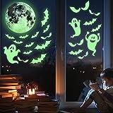 38 Pegatinas Luminosas Decorativas para Ventanas – Stickers de Halloween – Calcomanías Brillantes de PVC - Accesorio de Decoración – Apoyo para Celebración de Festivales y Fiestas Temáticas – Articulo de Decorado de Terror