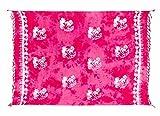 Sarong Pareo Wickelrock Dhoti Loop Tuch Strandtuch Handtuch Schal Pink Palme