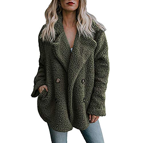 Damen Herbst Winter Oversize Schwarz Weiß Coats Warmer Parka Outwear Mode 2019 ()