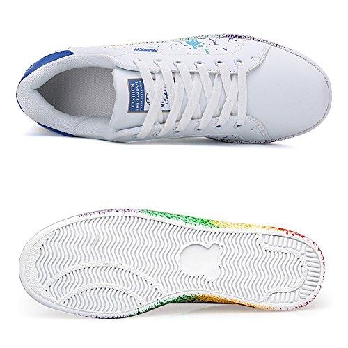JEDVOO Uomo Donna Sneakers Scarpe da Ginnastica Basse