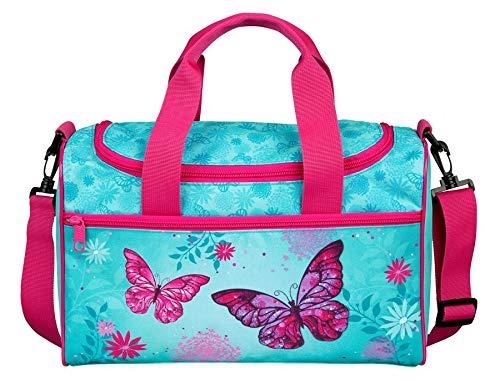 Scooli Butterfly Sporttasche Turnbeutel Handtasche Umhängetasche Shopper Tasche