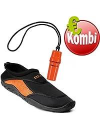 Beco , Chaussures spécial activités nautiques pour homme, - Schwarz/Orange, 41 EU