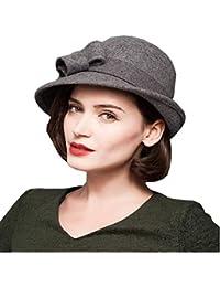 Gorros Elegante Otoño Invierno Campana Sombrero Moda Estilo Color Moderno  Bastante Vintage Sólido Cubo Sombrero Gorras 1964ecb5570