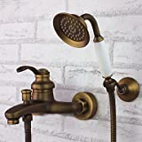 AIMI Bath Taps Antique Hand Shower Included���Brass (Antique Brass)