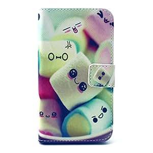 Etui Samsung Galaxy Core Prime Cuir,Flip Case Cover Coque en Cuir pour Samsung Galaxy Core Prime / SM-G360F Housse de Protection Protecteur Portefeuille Coque avec Fente pour Carte de Crédit - Bonbons de sourire