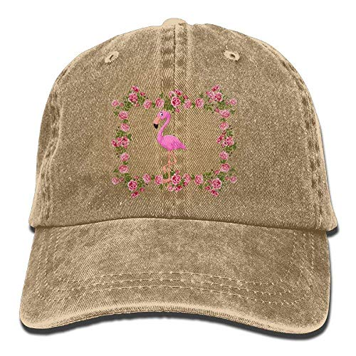 Yuerb Hüte,Kappen Mützen Flamingo Hawaiian Island Denim Hat Adjustable Mens Cute...