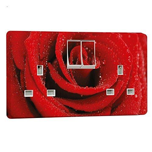 Pink Rot Steckdose Aufkleber für Crabtree 4306Doppel