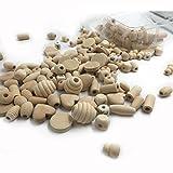 Coskiss 240pcs Unvollendetes umweltfreundliches Block-Holz-Korne DIY hölzerner Schnuller-Klipp 12 Art-natürliches hölzernes organisches Baby-Teether-Zusätze (Farbe 13)