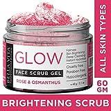 Bella Vita Organic Face Scrub For Women & Men, Sensitive Skin With Rose, Osmanthus & Pomegranate | Brightening, Whitening, Cleansing & Glowing Skin, 60 g
