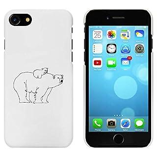Azeeda White 'Polar Bear & Cub' Case / Cover for iPhone 7 (MC00166644)
