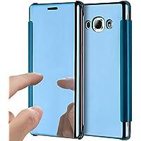 Funda de espejo para Samsung Galaxy J72016 azul