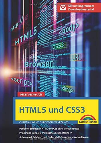 HTML5 und CSS3 - Start ohne Vorwissen - mit umfangeichen Download Material Buch-Cover