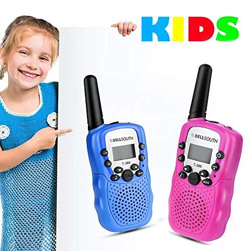 XIANRUI Kinder Walkie Talkies Funkgeräte Set für Jungen Mädchen, 22 Kanal 2-Wege-Radio 3 Meile Long Range Kids Toys Kleinkind mit Taschenlampe und LCD-Bildschirm für Adventure Game (Blue) -