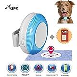 Zeerkeer GPS Pet Tracker mit SIM-Karte, Echtzeit-Haustier-Tracker für Hunde und Katzen mit App, wasserdichtes IP65-Leichtgewicht,Geofence,SOS-Funktion, GPS Elder Tracker(TK925)