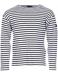 Armor Lux 01525 - T-shirt - À rayures - Manches longues - Homme