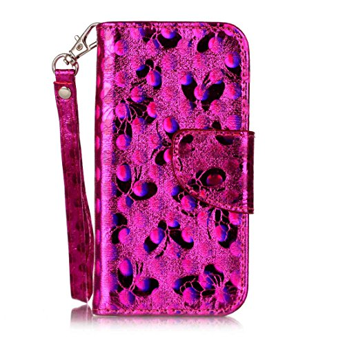 Nancen Compatible with Handyhülle iPod Touch 5 / Touch 6 (4 Zoll),Schmetterling Muster Flip Funktion Kartenfächer Magnet Etui iPod Touch 5 / Touch 6 (4 Zoll)