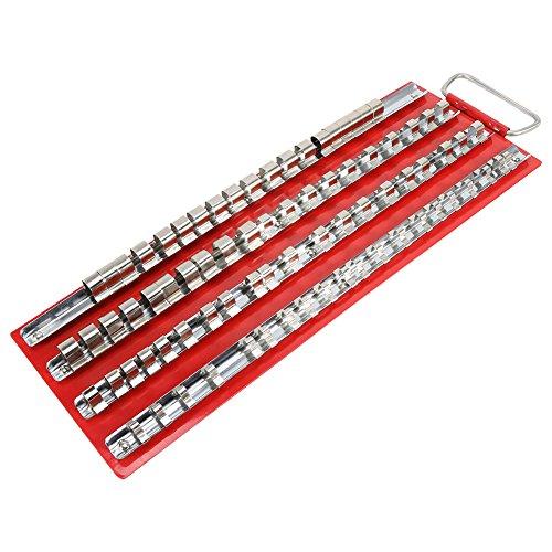 Heavy Duty Durable Socket Tray Rack Organizer 1/2 1/4 3/8 Zoll Garage Werkstattschiene Werkzeughalter(80pc) Heavy Duty Tray