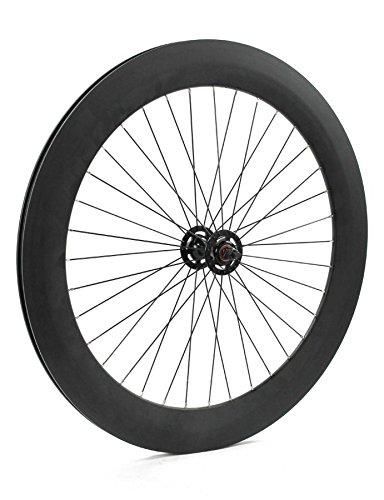 RIDEWILL BIKE Ruota Anteriore Scatto Fisso Pista 70 mm Radiale Nero Opaco (Scatto Fisso) / Front Single Speed Wheel Rim 70 mm Radial Matt Black (Fixed Wheel)