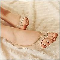 G1 Consoladores Mujer Niña Corte bajo Invisible Abierto Peep Corto Barco Calcetines Antideslizantes–Color de la Piel