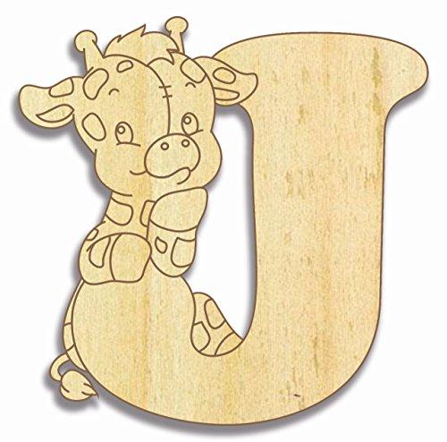 Preisvergleich Produktbild Farbklecks Collection Holzbuchstabe Giraffe J - 15 cm Höhe - Buchstabentiere - Holzbuchstaben - Holz-Buchstabe