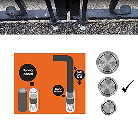 Gatekeeper socket for Drop Bolts of Gates and Garage Doors