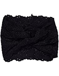 TININNA Elegant Lace Twisted Elastic Headband Head Band Head Wrap Turban Hairband Hair Band Headwrap for Women Ladies