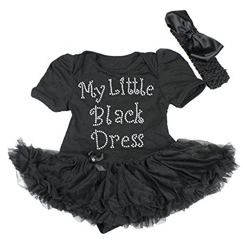 La-la-little Black Dress (Petitebelle My Little Black Dress Short Sleeve Bodysuit Tutu Baby Clothing 0-18m (0-3 Monats))