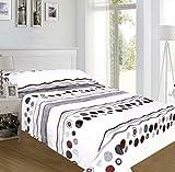 ForenTex - Juegos de sábanas, (NL-4023), Lunares Gris, cama 135 cm, con tacto seda de sedalina, nacarina, de 250 gr/m2, ultra suaves, exclusivas.