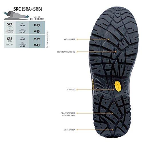 Sixton Stelvio 80087-00 S3 noir cuir de Nubuck graissé Safety Boot Black