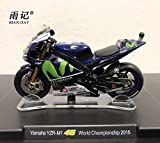 RIAN DAY 1/18 Scale MOTOGP Motorbike Model Valentino Rossi VR46 Yamaha YZR-M1 World Championship 2015 Diecast Metal Motorcycle Model Toy For Collection/Gift/Decoration