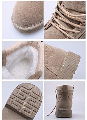 FLYRCX In autunno e in inverno e cashmere retrò Martin scarponi morbidi e confortevoli con donna scarponi da neve C