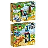 LEGO Duplo 2er Set 10879 10880 Dino-Streichelzoo + T-Rex Aussichtsplattform