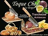 Trancheuse Universelle 2 en 1 2 Couteaux Guillotine à Saucisson Fromage Pain Toque...