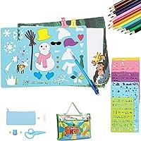 Plantillas de dibujo 54 piezas Sunjoy, Kit de plantillas de dibujo, plantillas de arte plástico 12 grandes arte plástico y 2 pequeños de 280 formas, juguete educativo y regalo perfecto para los niños