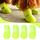 #3: Nest 9 Waterproof Anti-Slip Boot For Dog- Large - Fluorescent Green(4Pcs)