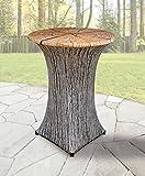 Stretch Tischhusse mit edlen Designs für Stehtisch 70-85 cm Durchmesser (Baum)